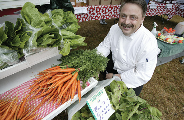 Ronald St. Pierre hits the Saturday morning Farmers' Market looking for ingredients.