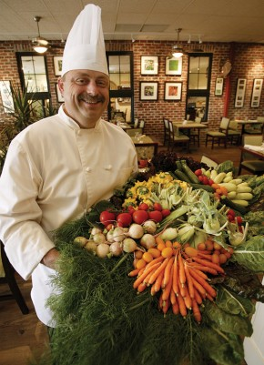 Chef Ronald St. Pierre shows off some Comox Valley farm fresh ingredients going into the dishes served at Locals.