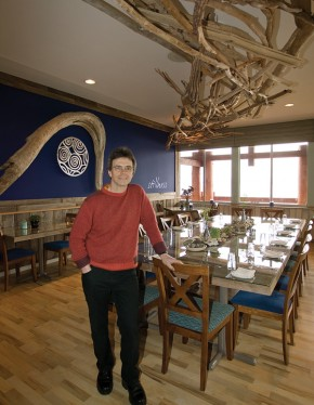 Lucas Stiefvater in the resort's dining room.