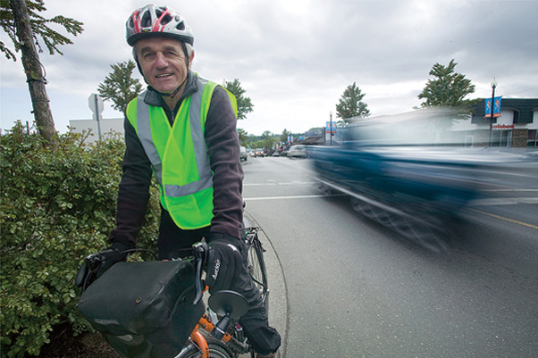 """The Comox Valley is very well suited for cycle commuting,"" says Ed Schum, who is working—along with the newly-formed Comox Valley Cycling Coalition—to make local streets safer for cyclists."