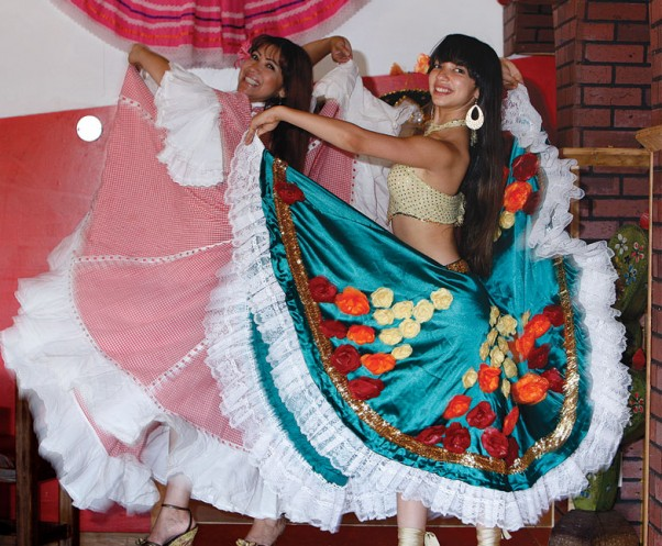 """Dancing is my passion,"" says Ruby Restan-McNiff (left), who has passed her love of dance on to her daughter Milena, performing here at Courtenay's La Cabana De Marcos Mexican restaurant."