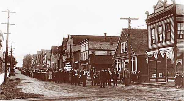 Ginger Goodwin's funeral procession, August 1918.