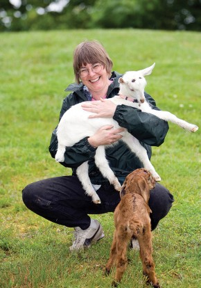 Karen Fouracre, along with her partner Jaki Ayton, runs Snap Dragon Goat Dairy in Fanny Bay.