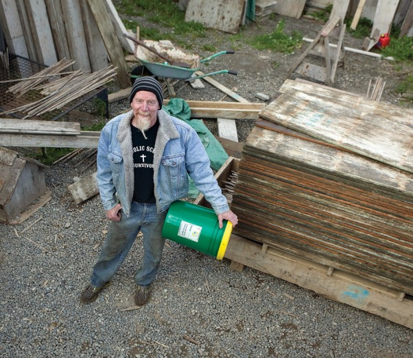 """I delivered 20,000 litres last year,"" says Martin McNabb of his GreenRelease product, a vegetable oil substitute for diesel oil used in concrete building forms.  ""That's 20,000 litres less of toxic oil being trucked hundreds of miles to end up in our watershed.  That gives me a lot of hope."""