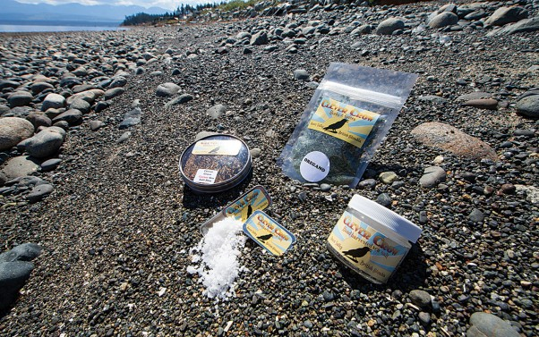 Clever Crow produces a variety of sea salts and herbs.  Photo by Boomer Jerritt