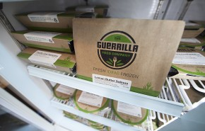Guerrilla Foods meals are frozen and ready to heat and serve.  Photo by Boomer Jerritt