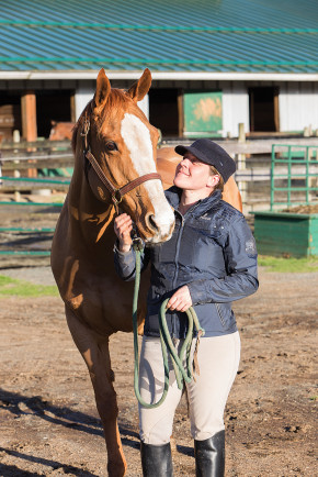 """Noelle's story has really affected people in a positive way,"" says Heather Stewart. ""My hope is that more horses will be saved because of her story.""  Photo by Boomer Jerritt"