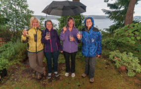 """We believe the global water situation is very dire—droughts are everywhere,"" she Linda Safford, far right, with fellow members of the Comox Valley Water Watch Coalition, from left Lynne Wheeler, Delores Broten and Dawn Christian.  ""Of all the water in the world, very little is potable.""` Photo by Seadance Photography"